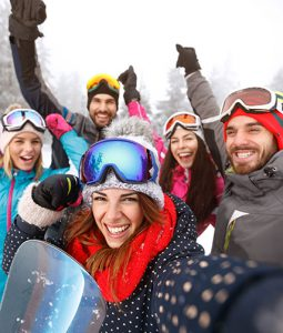 group ski outdoor montana nature adventrue travel